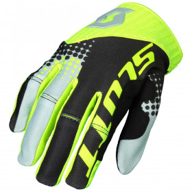 GLOVE 450 ANGLED BLACK/YELLOW S