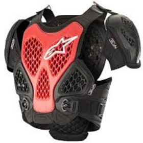 BIONIC CHEST PROTECTOR BLACK RED ML