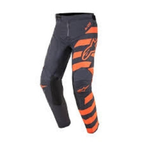 YOUTH RACER BRAAP PANT ANTHRACITE ORANGE