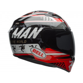 Casque BELL Qualifier DLX MIPS Isle Of Man 18 Gloss Black/Red taille XS