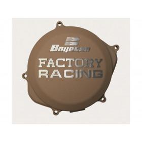 Couvercle de carter d'embrayage BOYESEN Factory Racing alu couleur magnésium Kawasaki KX125