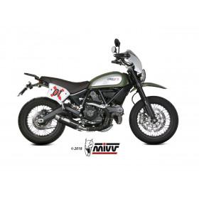 Silencieux MIVV GP Pro carbone/casquette inox Ducati Scrambler 800