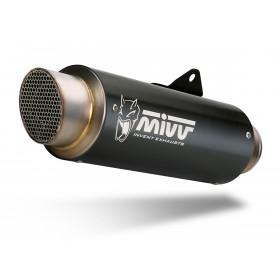 Silencieux MIVV GP Pro inox noir/casquette inox Ducati Scrambler 800