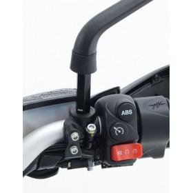 Réhausses de rétroviseur R&G RACING M10 x 1,25 x 8,5 - longueur 45mm noir