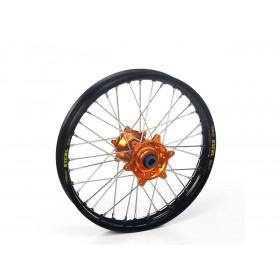 Roue arrière complète HAAN WHEELS 16X1.85 jante noir/moyeu orange KTM/Husqvarna 85