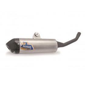 Silencieux 2 temps TECNIUM alu/casquette carbone KTM SX125