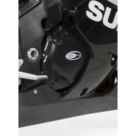 Kit couvre-carter R&G RACING noir Suzuki GSX-R600 (2 pièces)