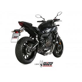 Ligne complète MIVV Delta Race inox silencieux inox noir/casquette carbone Yamaha MT-07