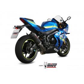 Silencieux MIVV Oval carbone/casquette carbone Suzuki GSX-R 1000