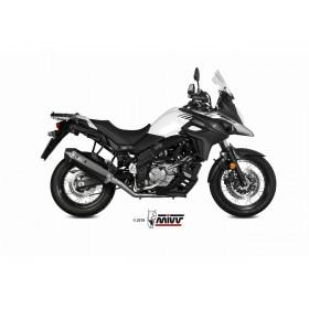 Silencieux MIVV Speed Edge inox noir/casquette carbone Suzuki DL650 V-Strom