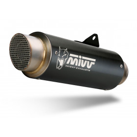 Silencieux MIVV GP Pro inox noir/casquette inox Kawasaki Z900RS