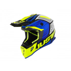 Casque JUST1 J38 Blade Blue/Fluo Yellow/Black Gloss taille L