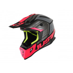Casque JUST1 J38 Blade Fluo Fuxia/Black Matt taille XL