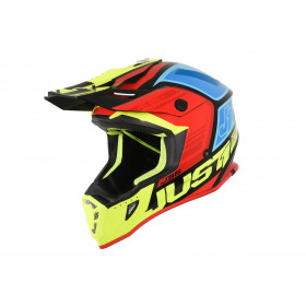 Casque JUST1 J38 Blade Black/Yellow/Red/Blue Gloss taille XL