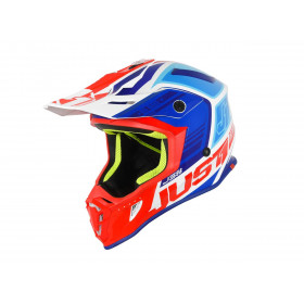Casque JUST1 J38 Blade Blue/Red/White Gloss taille XL