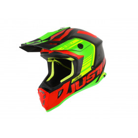 Casque JUST1 J38 Blade Red/Lime/Black Matt taille S