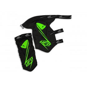 Genouillère UFO Jackal STF noir/vert taille adulte L/XL