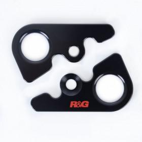 Platines pour sangles R&G RACING noir MV Agusta F4RC