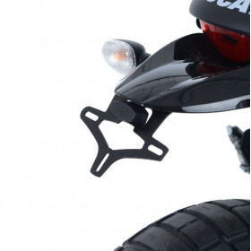 Support de plaque R&G RACING noir Ducati Desert Sled