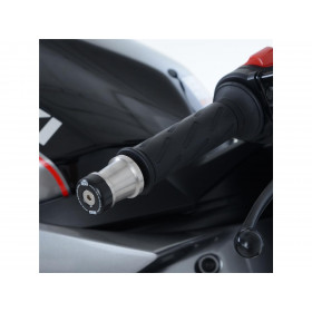 Embouts de guidon R&G RACING noir Suzuki SV650X