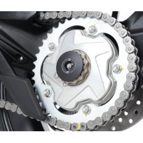 Insert axe de roue arrière R&G RACING noir MV Agusta Rivale 800