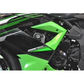 Tampons de protection R&G RACING Aero noir Kawasaki Ninja 250SL