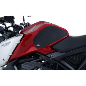 Kit grip de réservoir R&G RACING translucide (2 pièces) Honda CB125R