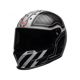 Casque BELL Eliminator Outlaw Gloss Black/White taille XL