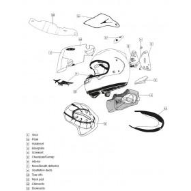 Ventilation latérale ARAI casque intégral Aluminium Silver