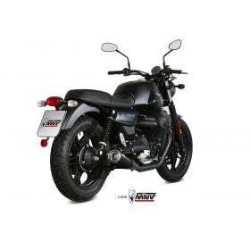 Silencieux MIVV Ghibli inox noir/casquette inox Moto Guzzi V7 III