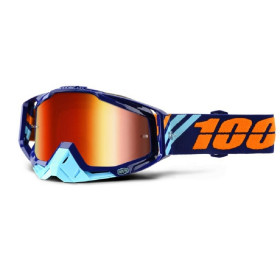 RACECRAFT GOGGLE 100% CALCULUS NAVY//MIRROR RED