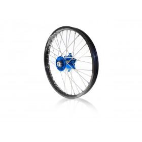 Kit roues complètes avant + arrière ART MX 21x1,60/19x2,15 jante noir/moyeu bleu Yamaha