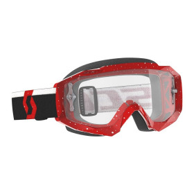 SCO GOGGLE HUSTLE X MX RED/WHITE CLEAR W