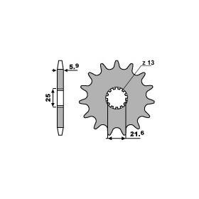 Pignon PBR 15 dents acier anti-bruit pas 520 type 565