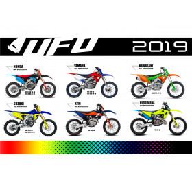 Kit plastique UFO édition limité Kawasaki KX250F