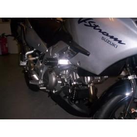 Tampons de protection R&G RACING Aero noir Kawasaki DL1000 V-Strom