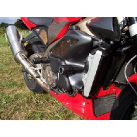 Tampons de protection R&G RACING Aero noir Aprilia Tuono 1000