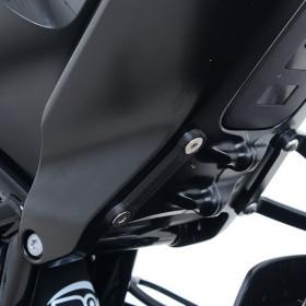 Cache orifices reposes-pieds gauche R&G RACING noir Husqvarna Vitpilen 701