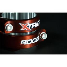 Té de fourche XTRIG Rocs Tech orange offset 22,5mm