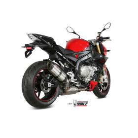 Silencieux MIVV Suono inox/casquette carbone BMW S1000R