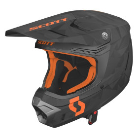 SCO HELMET 350 EVO CAMO ECE BLACK/ORANGE