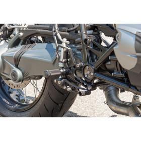 Commandes reculées LSL argent BMW R1200 Nine-T