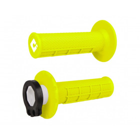 Revêtements ODI MX V2 Lock-On semi-gauffré jaune fluo