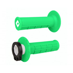 Revêtements ODI MX V2 Lock-On semi-gauffré vert fluo