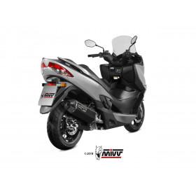 Silencieux MIVV Speed Edge inox noir/casquette carbone Suzuki Burgman 400