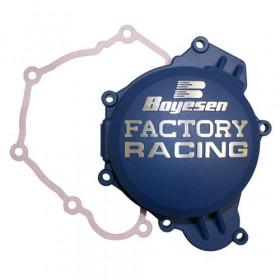 Couvercle de carter d'allumage BOYESEN Factory Racing bleu Yamaha YZ65