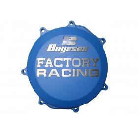 Couvercle de carter d'embrayage BOYESEN Factory Racing alu bleu Yamaha YZ65