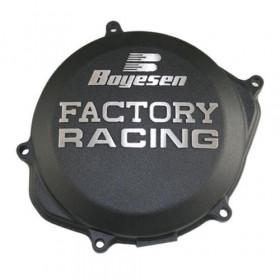 Couvercle de carter d'embrayage BOYESEN Factory Racing alu noir Kawasaki KX450