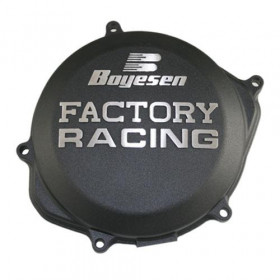 Couvercle de carter d'embrayage BOYESEN Factory Racing alu noir KTM/Husqvarna