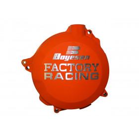 Couvercle de carter d'embrayage BOYESEN Factory Racing alu orange KTM/Husqvarna
